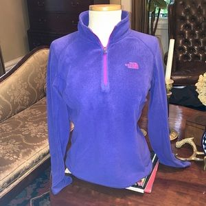 North Face Purple with Pink Logo Fleece